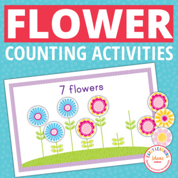 Flower Math Activities | Number Boards and Counting Book