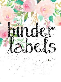 Flower Power  *EDITABLE* Classroom Organization Labels