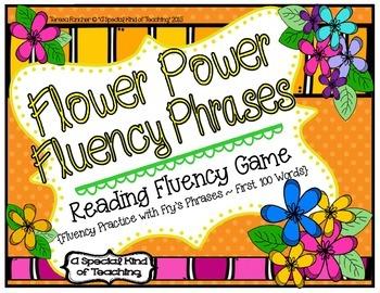 Flower Power Fluency Phrases {Reading Fluency Practice wit