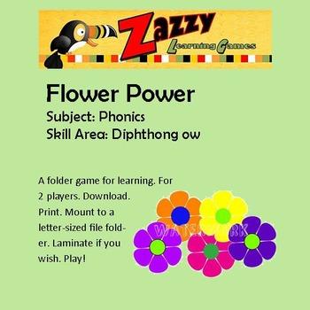 Flower Power Folder Game Phonics ow