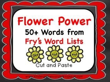 Sight Word Worksheets: Flower Power : Sorting 50+ Words! (Part One)