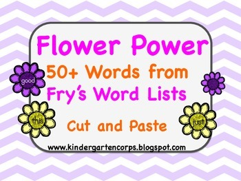 Sight Word Worksheets: Flower Power : Sorting 50+ Words (Part Three)