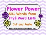 Sight Word Worksheets: Flower Power : Sorting 50+ Words (Part Three)