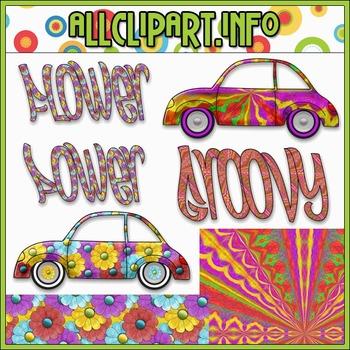 $1.00 BARGAIN BIN - Flower Power Groovy Bugs Clip Art