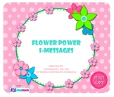 Flower Power I-Messages (Smart Board Game)