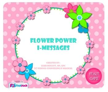 Flower Power I-Messages (Smart Board Game)