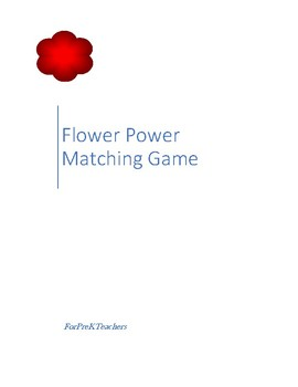 Flower Power Matching Game