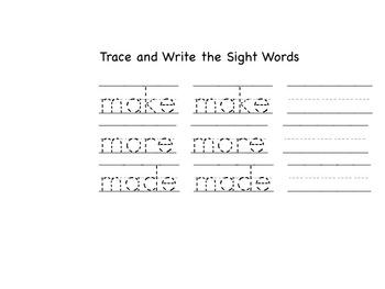 Sight Word Worksheets Flower Theme BUNDLE