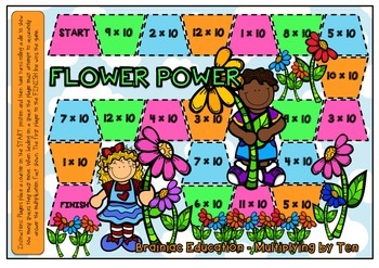Flower Power Multiplication Board Game x10 Facts