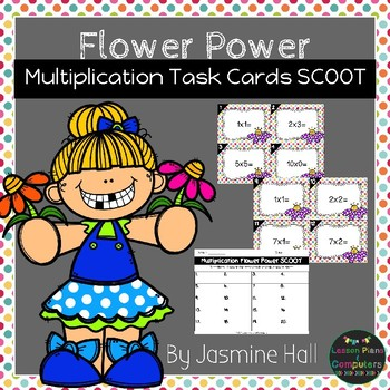 Flower Power Multiplication Task Cards SCOOT #newdeals