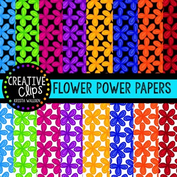 Flower Power Papers {Creative Clips Digital Clipart}