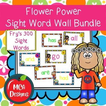 Flower Power Sight Word Wall Bundle