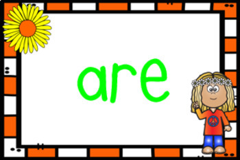 Flower Power Sight Word Wall - Fry's First 100