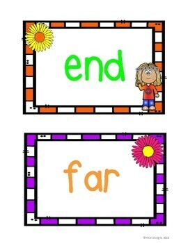 Flower Power Sight Word Wall - Fry's Second 100