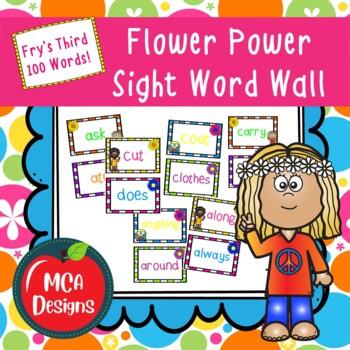 Flower Power Sight Word Wall - Fry's Third 100
