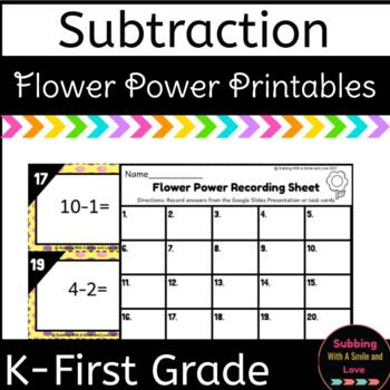 Flower Power Subtraction Task Cards SCOOT