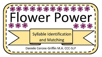 Flower Power Syllable Identification and Matching Game