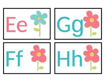 Flower Power Themed Word Wall Headers