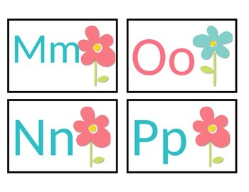 Flower Power Themed Word Wall Headers