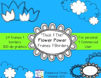 Flower Power! Thick & Thin Frames and Borders for Personal & Commerical Use