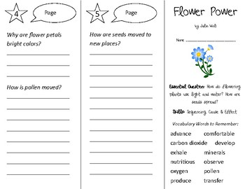 Flower Power Trifold - Open Court 2nd Grade Unit 4 Lesson 1