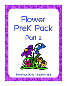 Flower PreK Printable Learning Pack - Part 2