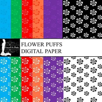 Flower Puffs Digital Paper