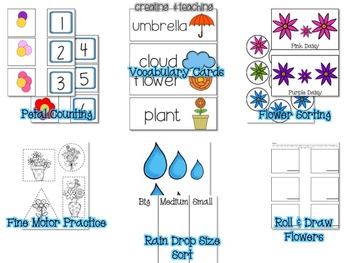 Flower & Rain Activities