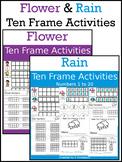 Flower & Rain Ten Frame Activities (1-20)  Bundle