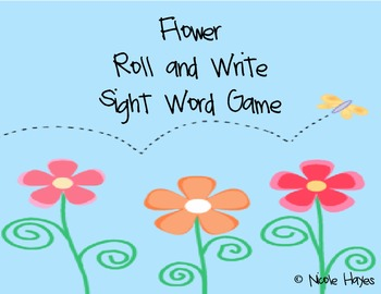 Flower Roll and Write Sight Word Game