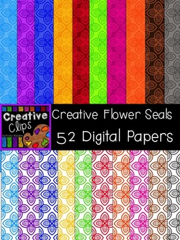 Flower Seal Papers {Creative Clips Digital Clipart}