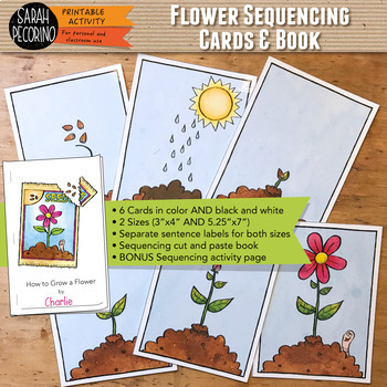 Flower Sequencing Cards and Book