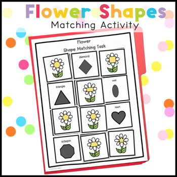 Flower Shape Match File Folder Game for Early Childhood Special Education