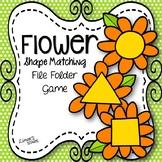 Flower Shape Matching File Folder Game