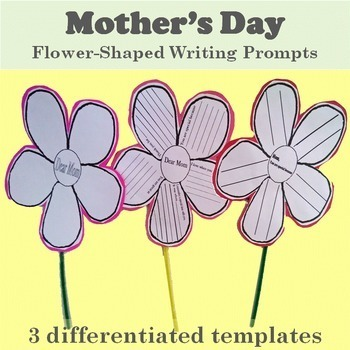 Mother's Day Flower Shaped Writing Prompts