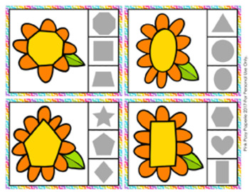 Flower Shapes Clip Cards