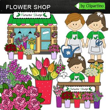 Flower Shop Clipart by Clipartino | Teachers Pay Teachers