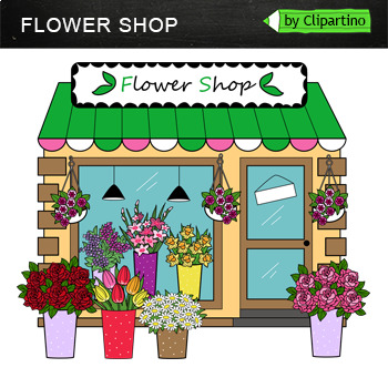 Flower Shop Clipart by Clipartino | Teachers Pay Teachers