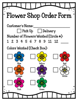 Flower Shop (Dramatic Play) by For A Rainy Day | TpT