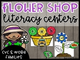 Flower Shop Dramatic Play: CVC words and Word Family Centers