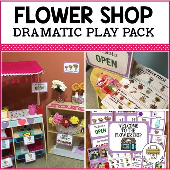 Flower Shop Dramatic Play Pack for Pre-K, Preschool and Tots