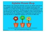 Flower Shop Syllables