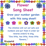 Flower Math - Counting Sets Song Sheet