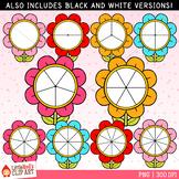Flower Spinners Clip Art