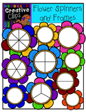 Flower Spinners and Frames {Creative Clips Digital Clipart}