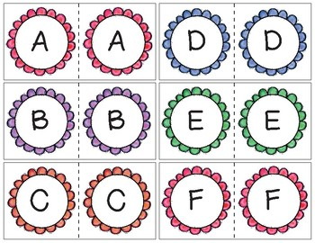 Flower/Spring Letter Match for Early Childhood- Uppercase to uppercase