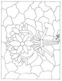 Flower Stained Glass Coloring Page