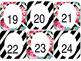 Flower & Stripes Numbered Labels