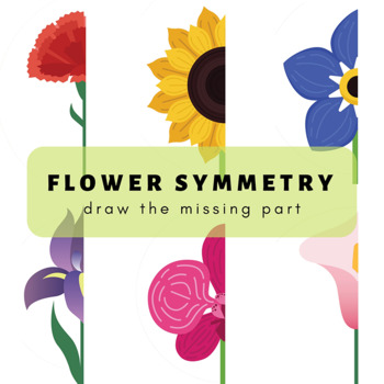 Flower Symmetry: Draw the Missing Parts Art Prompts for Children