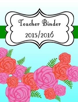 Flower Teacher Binder